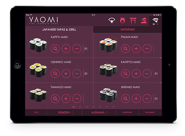 360vier_referenz_yaomi_tableorder_ipad_01 V-Doit & More GmbH (Yaomi)