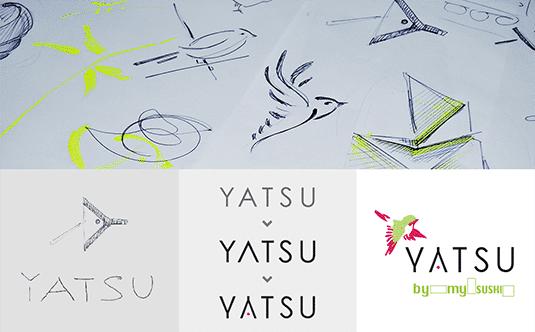 YAT-Referenz-Logoaufbau YATSU Sushi Delivery
