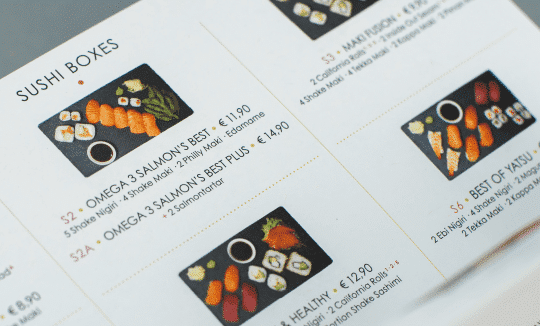 YAT-Referenz-Print-karte YATSU Sushi Delivery