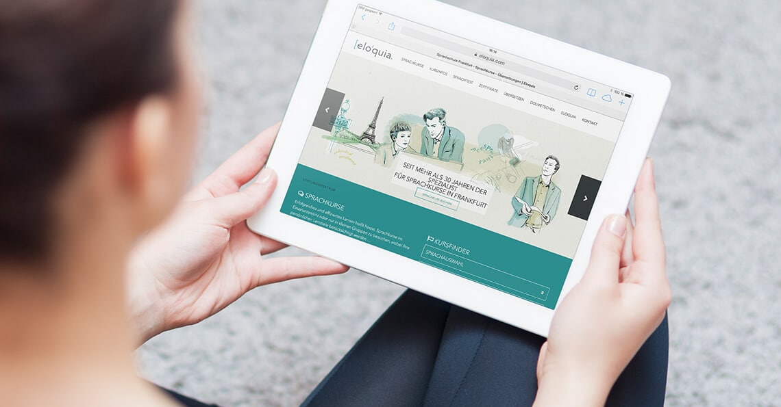360vier_referenz-auszug_eloquia-frankfurt Webdesign Mainz