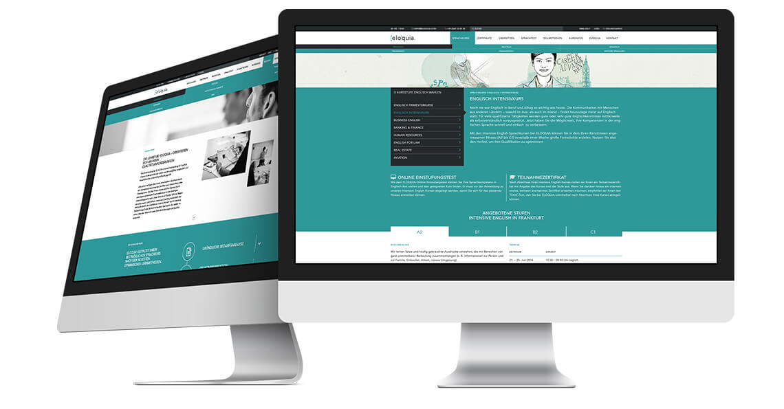 360vier_referenz-auszug_eloquia-screen Webdesign