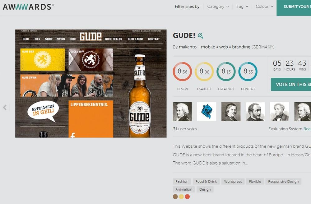 GUDE_Blog_Awwwards GUDEs wird noch besser: Umfassender Relaunch der GUDE Website