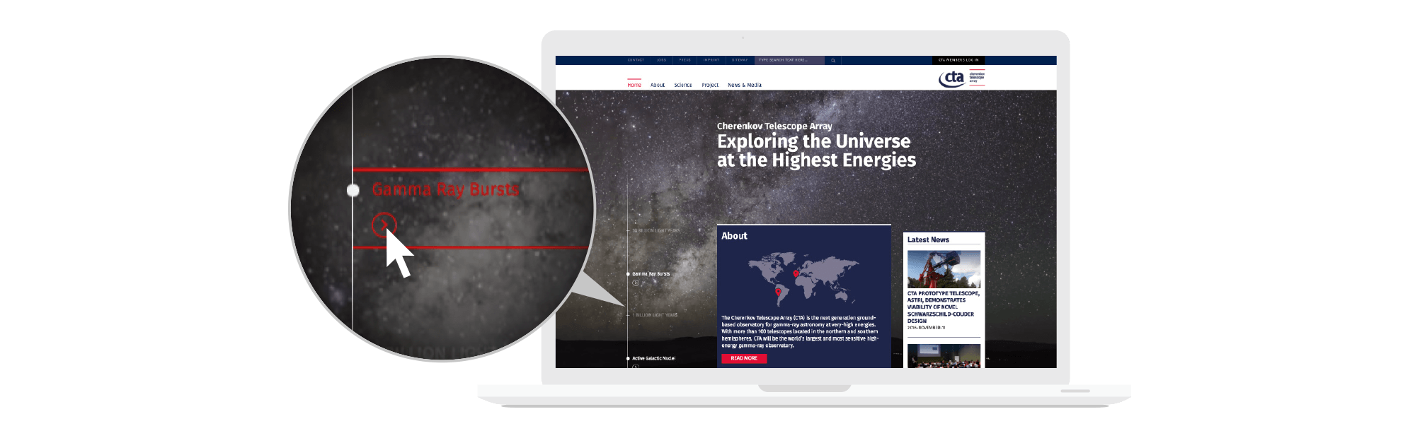 360VIER_CTAO_Slider_Webdesign_03 Cherenkov Telescope Array Observatory Gmbh