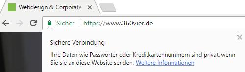 screenshot-chrome-sichere-verbindung-ausführlich-360vier https, http/2 und SSL – Sicherheit die schneller macht und besser ranked.