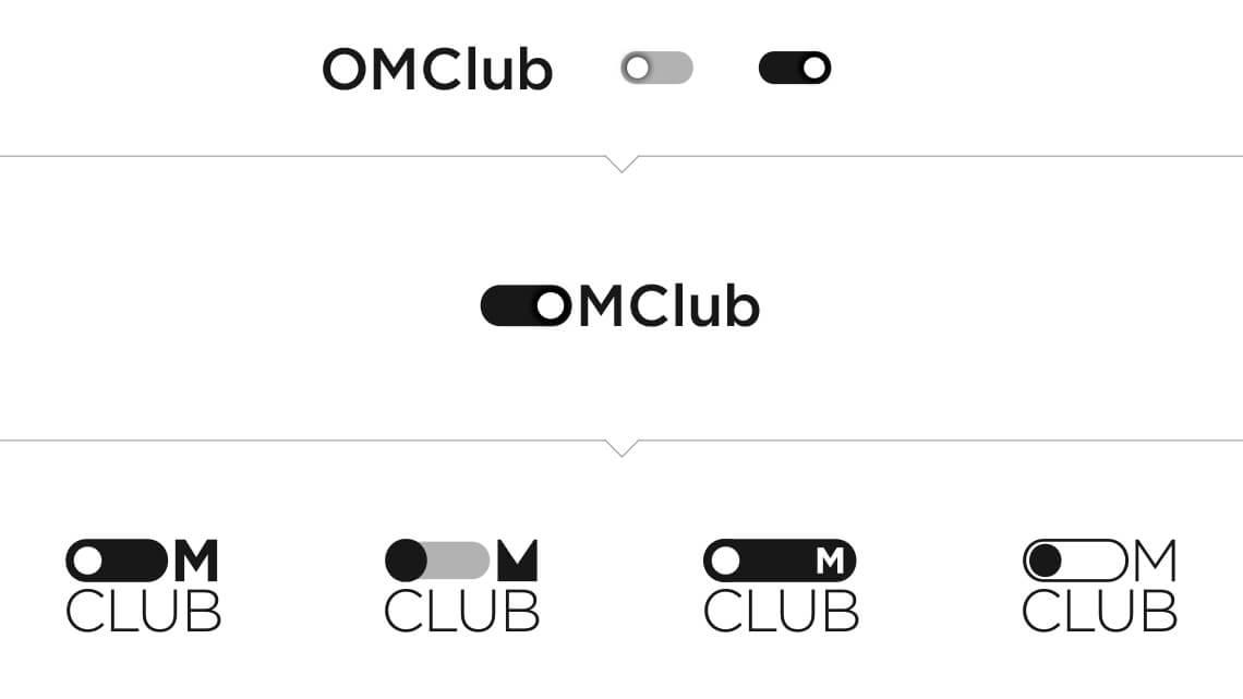 360VIER_OmClub_logodraft_toggle OMClub Redesign: Von 0 auf 333 in 30 Sekunden