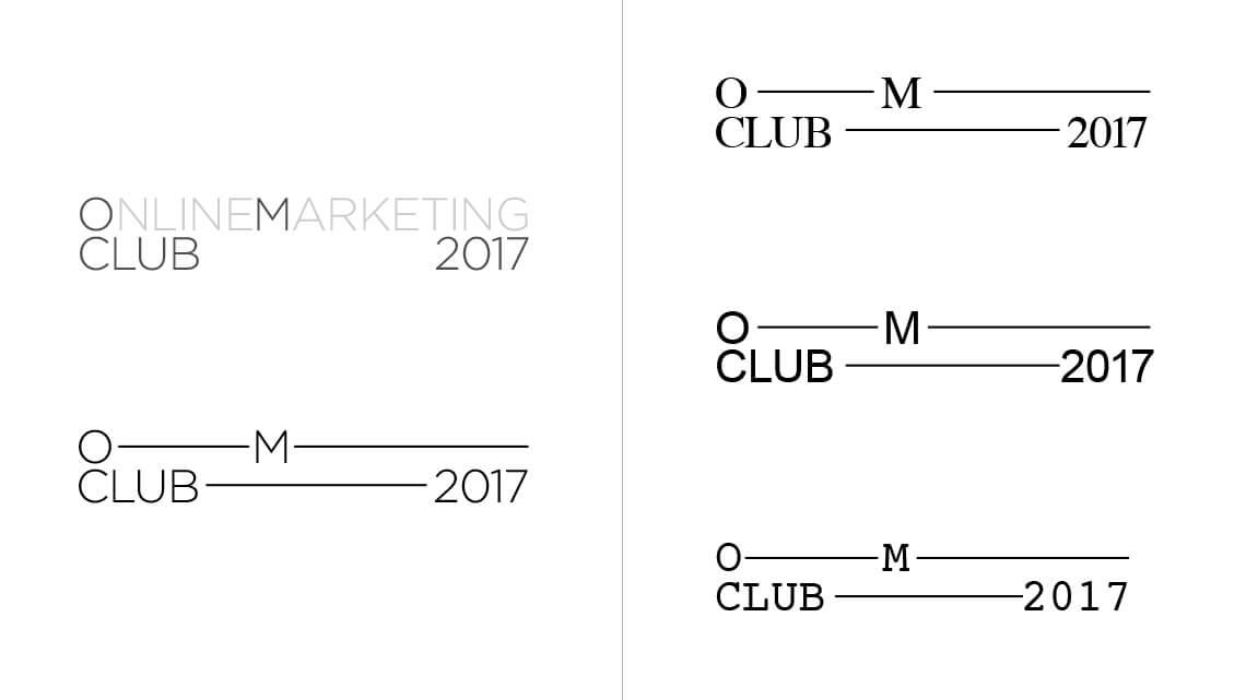 360VIER_OmClub_logodraft_typesystem OMClub Redesign: Von 0 auf 333 in 30 Sekunden