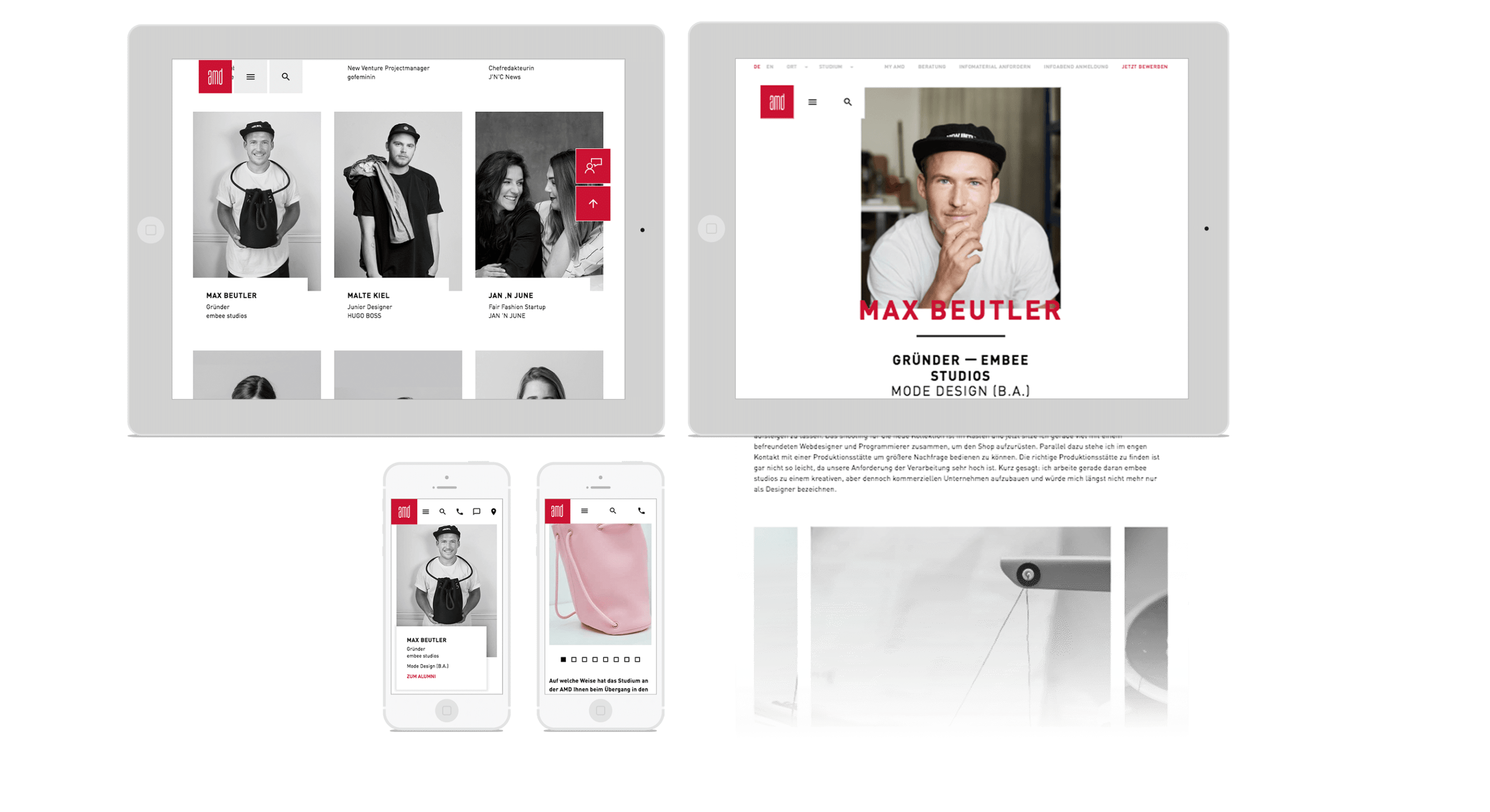 AMD00_Referenzen_mockup_iPad_template AMD Academy for Fashion and Design